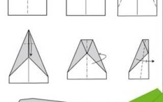 Самолет из бумаги оригами: воздушное судно за несколько минут