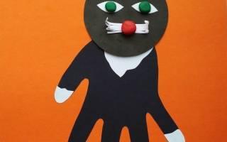 Аппликация из ладошек в детском саду для веселого времяпровождения