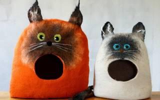 Кошачий домик своими руками: фото лучших вариантов для питомца