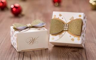 Бонбоньерки на свадьбу своими руками из картона, ткани и фатина
