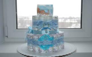 Мастер-класс «торт из памперсов своими руками» пошагово с фото и другими материалами