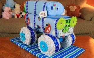 Велосипед из памперсов: оригинальный подарок для малыша