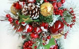 Топиарий «елка» своими руками для украшения столика