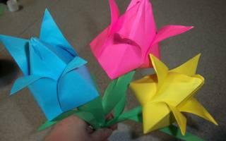 Тюльпан из бумаги своими руками: инструкция и практические советы
