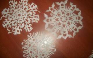 Как складывать бумагу для снежинок: простые и красивые варианты