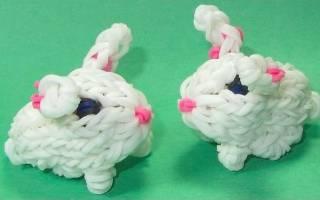 Как сплести из резинок кролика в подарок друзьям и близким