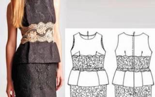Платье с баской: выкройки с пошаговой инструкцией для всех желающих