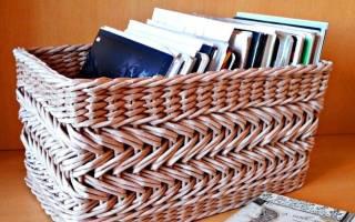 Корзина для белья своими руками из газет, крышек и других подручных материалов
