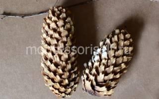 Олень из шишек: поделка из даров леса