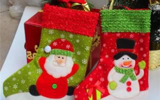 Новогодние носки своими руками: красочный атрибут для подарков