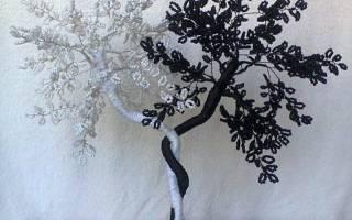 Дерево инь-янь из бисера: пошаговое плетение элемента декора