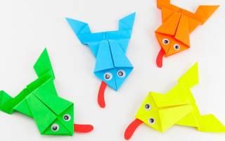 Как сделать лягушку из бумаги, которая прыгает: ранние детские поделки