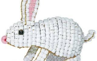 Объемные игрушки из бисера со схемами на примере хомячка, кролика и ангелочка