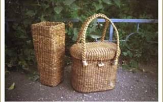 Плетение из камыша для начинающих в домашних условиях