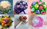 Букет на свадьбу своими руками: варианты материалов и их использования