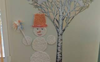 Аппликация «снеговик» с шаблонами и трафаретами для детей