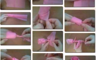 Как сделать розу из салфетки своими руками разными способами