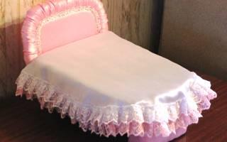Кроватка для куклы своими руками: милая мебель для детских игр