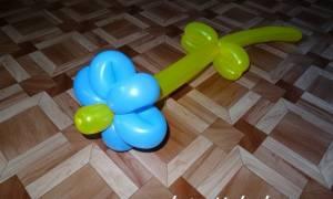 Цветок из шарика-колбаски: аэродизайн не только для профессионалов