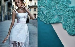 Атласное платье с кружевом: учимся самостоятельному построению выкроек