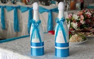 Свадебное шампанское своими руками в различных техниках