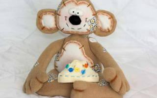 Выкройка обезьяны: текстильные игрушки для ребенка