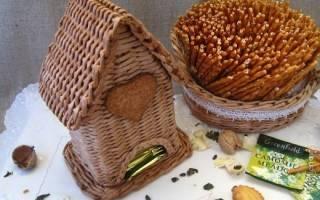 Чайный домик из газетных трубочек: прекрасный сувенир для ваших родных