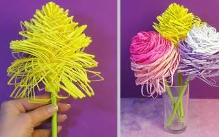 Цветы из бумаги своими руками: работаем с большими и объемными цветами