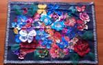 Аппликации цветов из ткани: просто и со вкусом