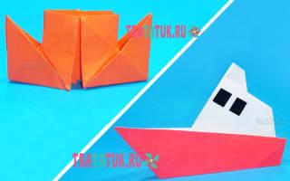 Пароход из бумаги: необычная поделка для любителей морской тематики