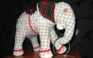 Игрушка слон своими руками: уроки для новичков в рукоделии