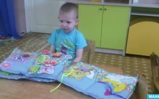 Развивающая книга своими руками для детей из мягких материалов