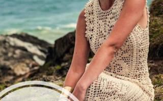 Филейное вязание: схемы сетчатых украшений для дома