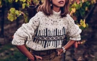 Женские вязаные свитера для холодных зимних деньков