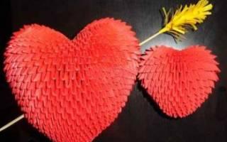 Объемное сердце: модульное оригами на день всех влюбленных