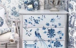 Роспись мебели своими руками: мастер-класс на примерах