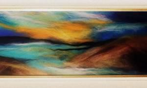 Картина из шерсти для начинающих: теплая акварель для невероятных творений