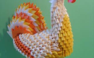 Петух из модулей оригами: подробный процесс сборки