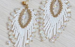 Серьги из бисера: схемы плетения украшений интересных форм