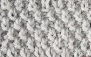 Жемчужный узор спицами: основы вязания для новичков