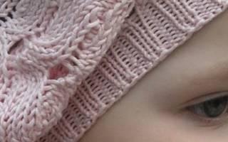 Берет для девочки спицами: разбираем самые популярные модели