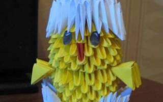 Модульное оригами цыпленка в скорлупе: совместное творчество с ребенком