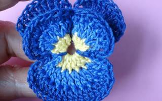 Анютины глазки крючком: создание цветочной композиции