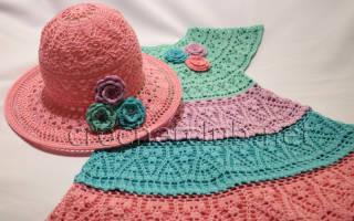 Рукава-крылышки крючком: оформляем детские платья