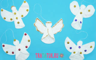 Ангелочек из ватных дисков: оригинальные поделки из бросового материала