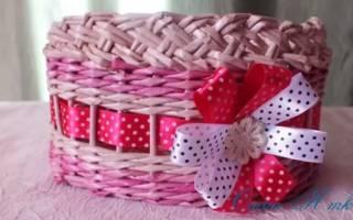 Плетение из бумаги своими руками: милые корзинки для стильного интерьера