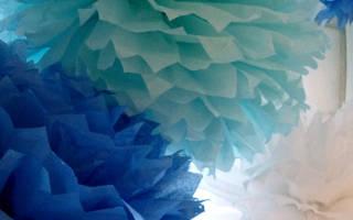 Шар из гофрированной бумаги для украшений помещения к праздникам
