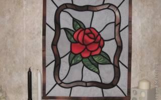 Витраж: рисунок и шаблон для красивого домашнего декора