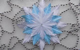Пушистая снежинка: видео-уроки нескольких лучших способов