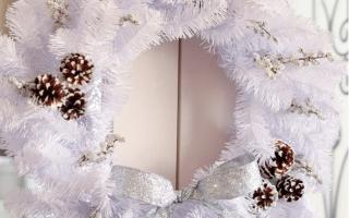 Как сделать венок на новый год своими руками из мишуры и других материалов